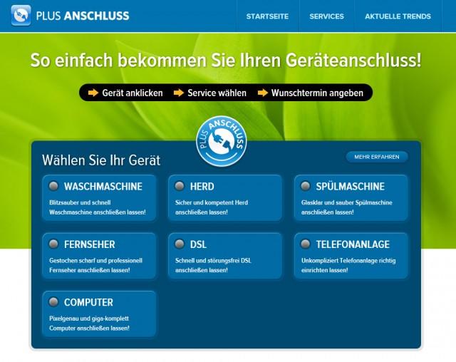 Homepage plusanschluss.de
