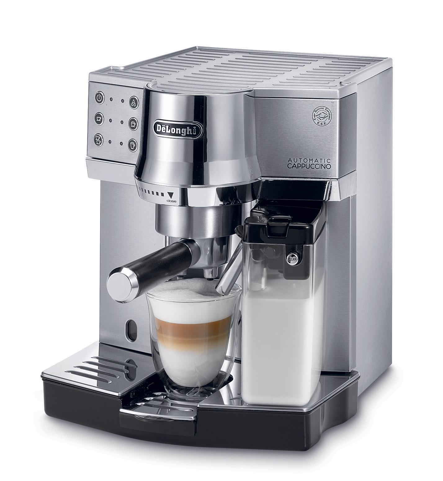 espresso cappuccino oder caff de longhi berrascht mit siebtr ger ec 850. Black Bedroom Furniture Sets. Home Design Ideas
