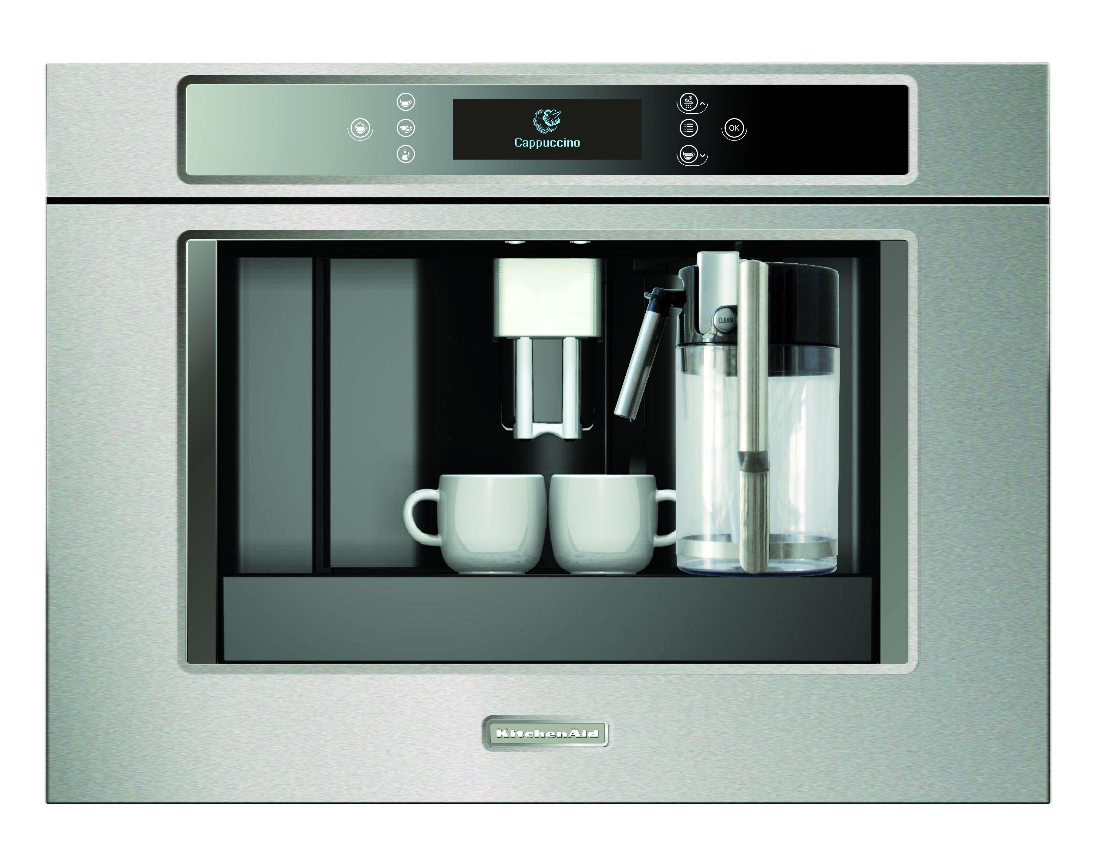 Einbau Kaffeemaschine kitchenaid einbaukaffeemaschine kscx 3625 kaffee wie vom barista