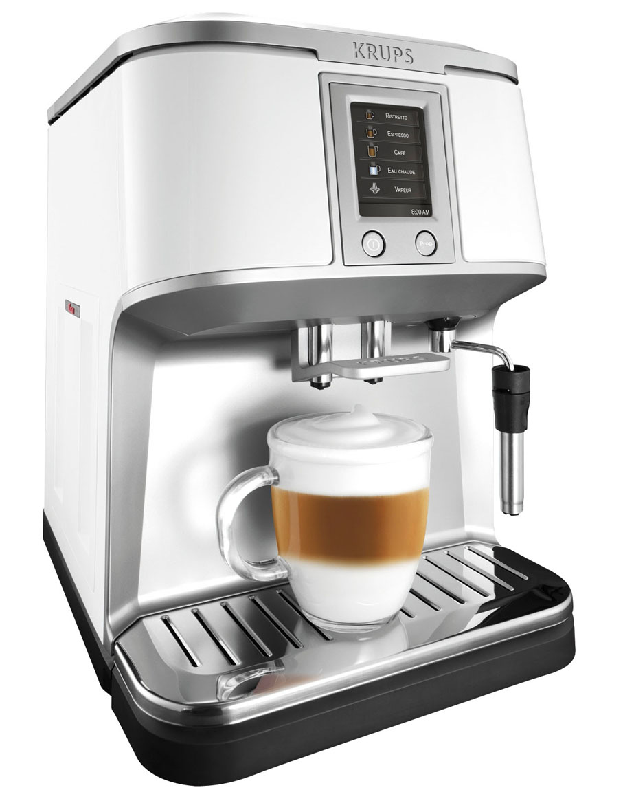 krups ea 8421 kaffeevollautomat mit geneigter milchschaumd se. Black Bedroom Furniture Sets. Home Design Ideas