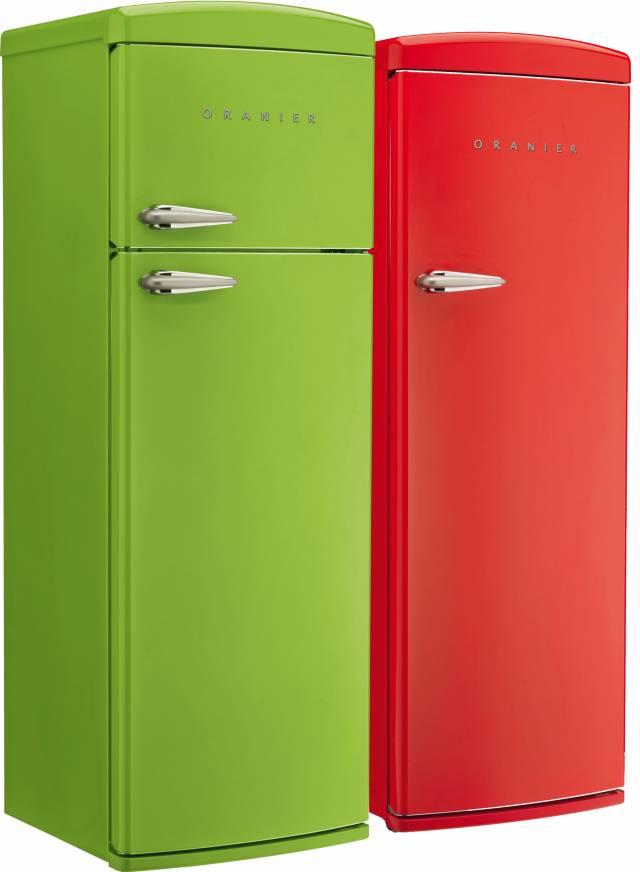 Die Oranier Retro-Kühlschränke bedienen die Energieeffizienzklasse A+.
