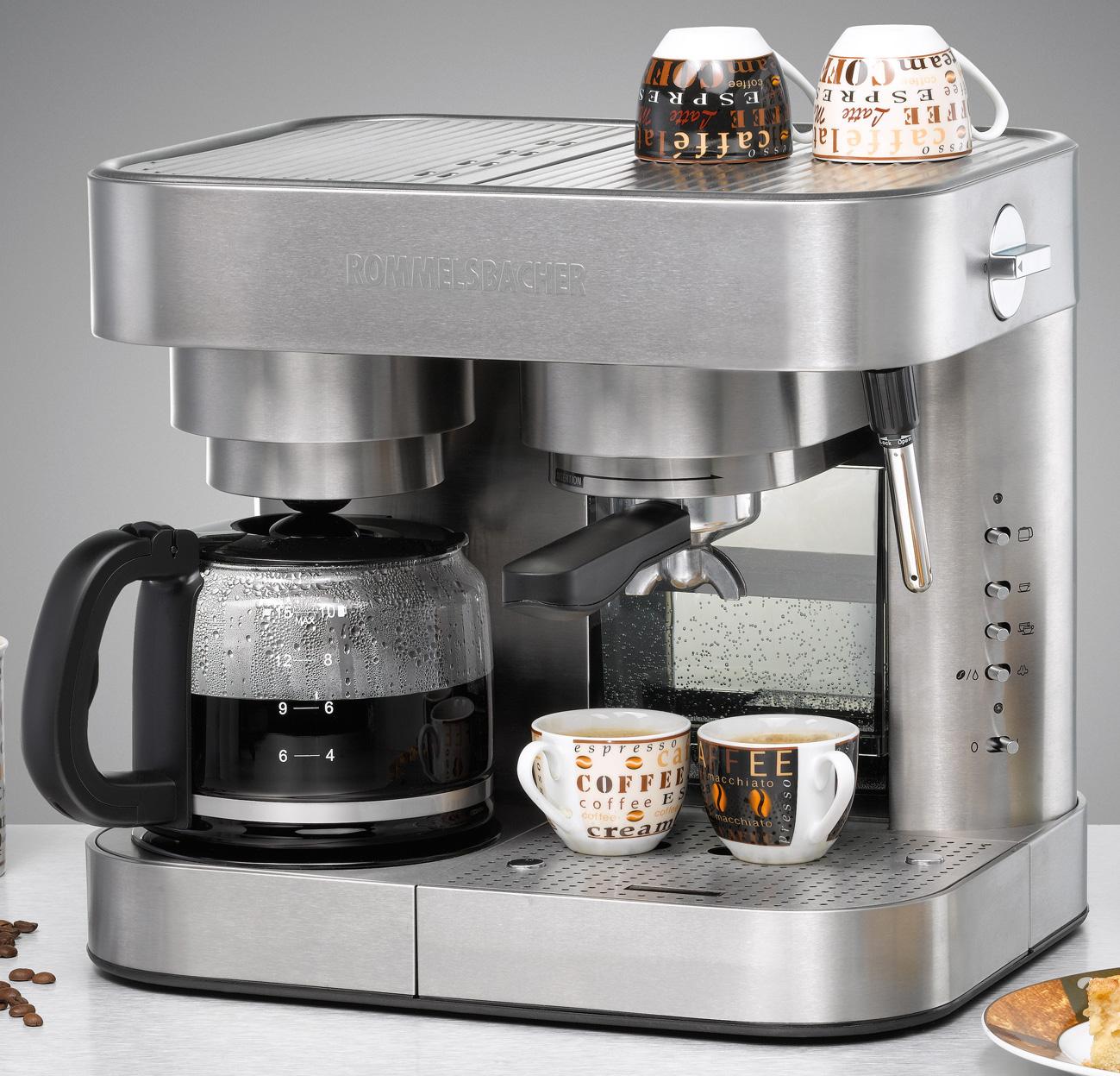 rommelsbacher eks 3000 kaffee espressocenter kombiger t aus kaffee und esspressomaschine. Black Bedroom Furniture Sets. Home Design Ideas