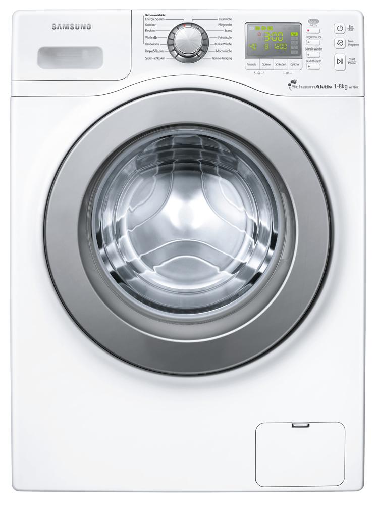 samsung wfs 7802 waschmaschine 8 kilo fassungsverm gen bei nur 45 cm tiefe. Black Bedroom Furniture Sets. Home Design Ideas