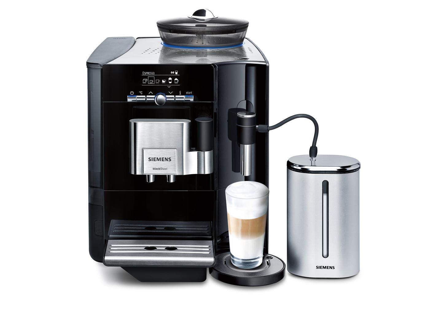 siemens eq 7 plus blacksteel kaffeevollautomat espresso in expressiver form. Black Bedroom Furniture Sets. Home Design Ideas
