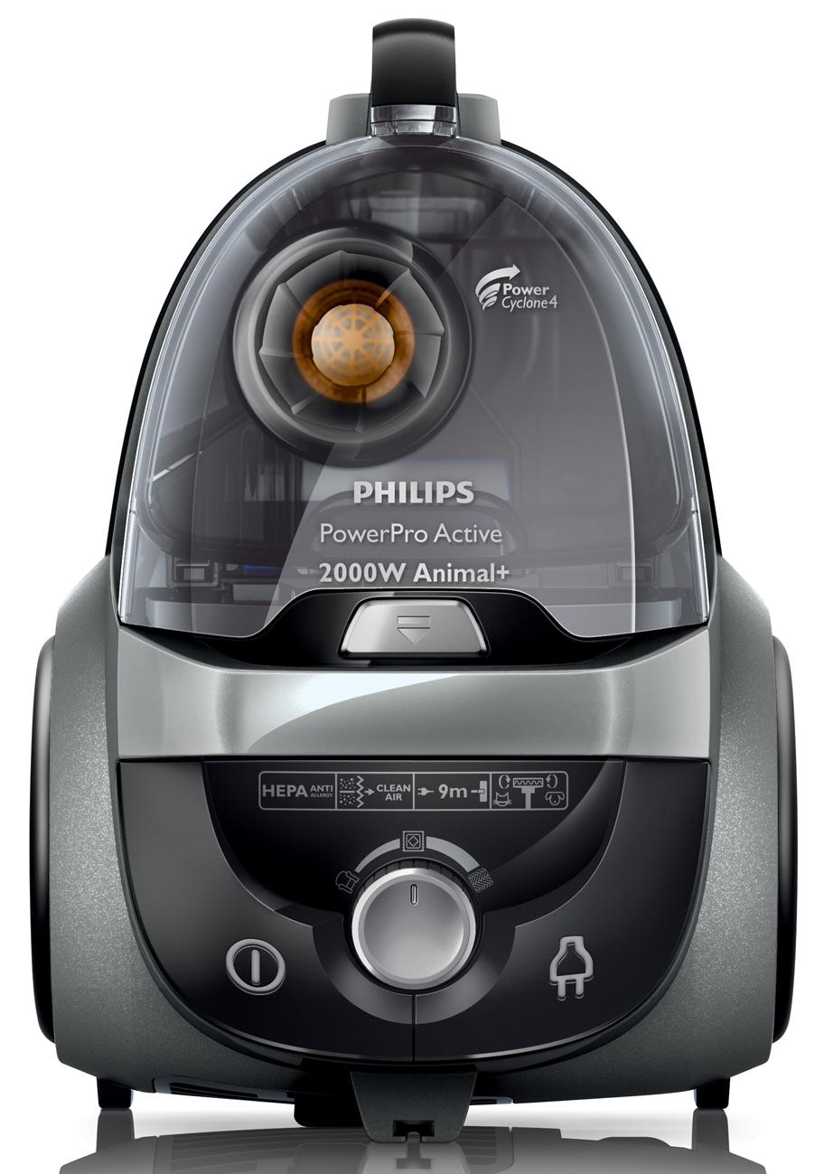 Staubsauger Philips PowerPro Active Animal+  mit  ~ Staubsauger Gegen Tierhaare