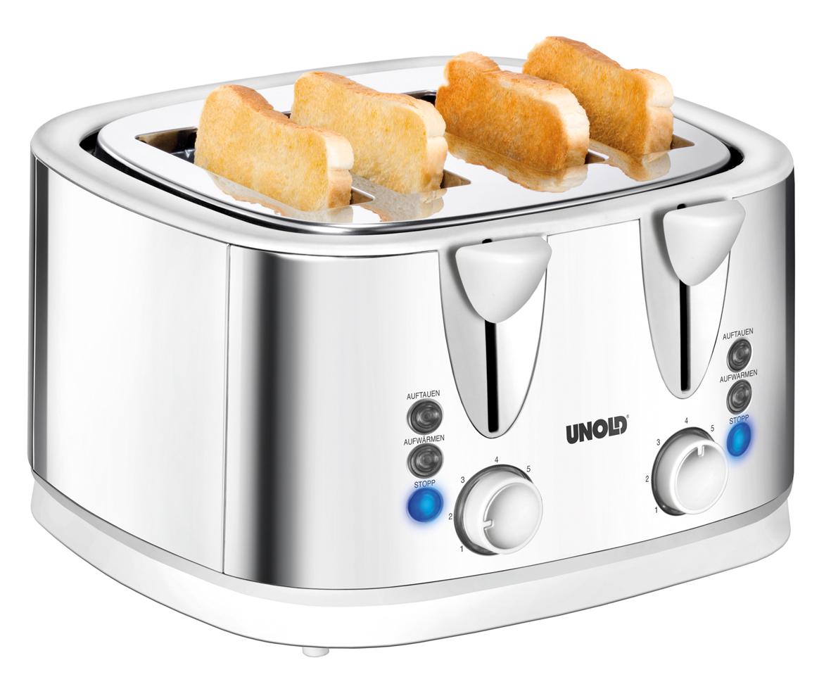 unold quattro toaster 4 scheibentoaster mit br tchenaufsatz. Black Bedroom Furniture Sets. Home Design Ideas