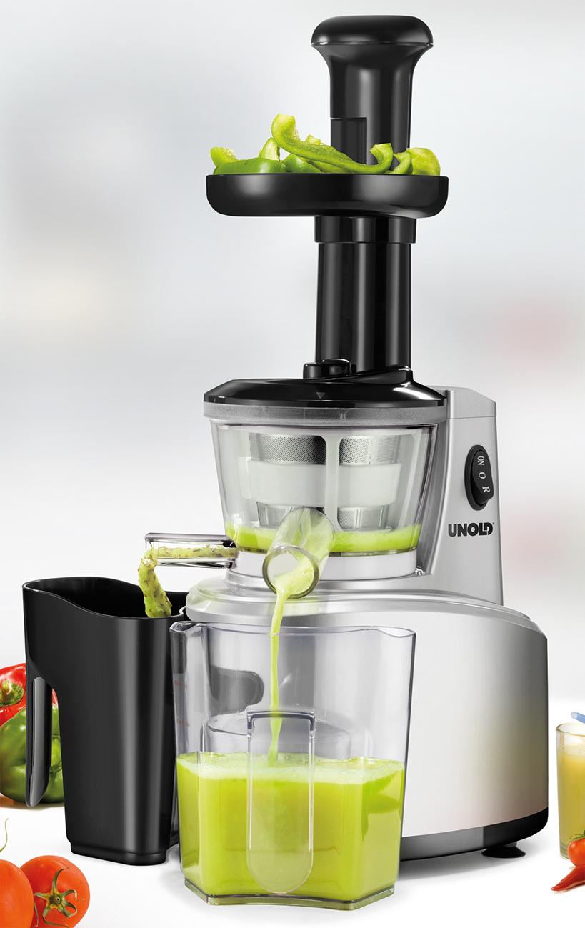 Unold Slow Juicer Test : Unold Slow Juicer Saftpresse trennt Fruchtfleisch und Saft