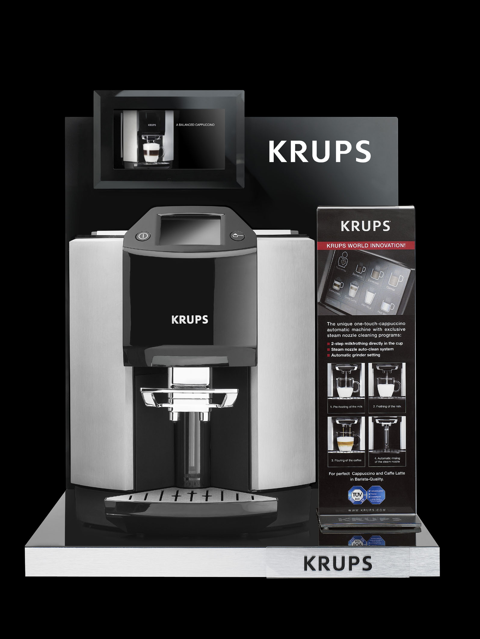 krups ea 9000 display krups ea 9000 kaffeevollautomat mit one touch bedienung echte barista. Black Bedroom Furniture Sets. Home Design Ideas