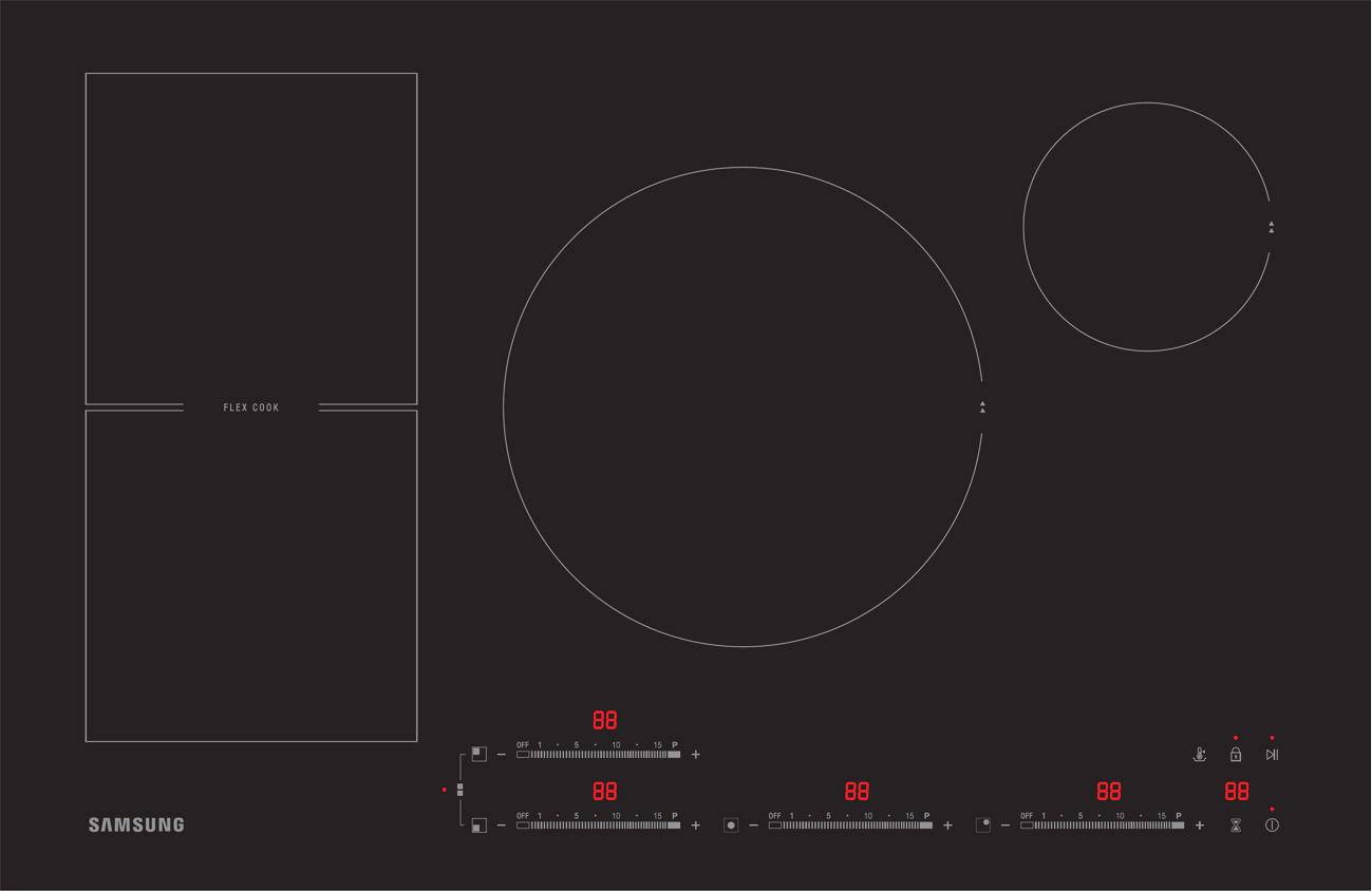 samsung induktionskochfeld nz84f7nc6ab mit anydish funktion. Black Bedroom Furniture Sets. Home Design Ideas