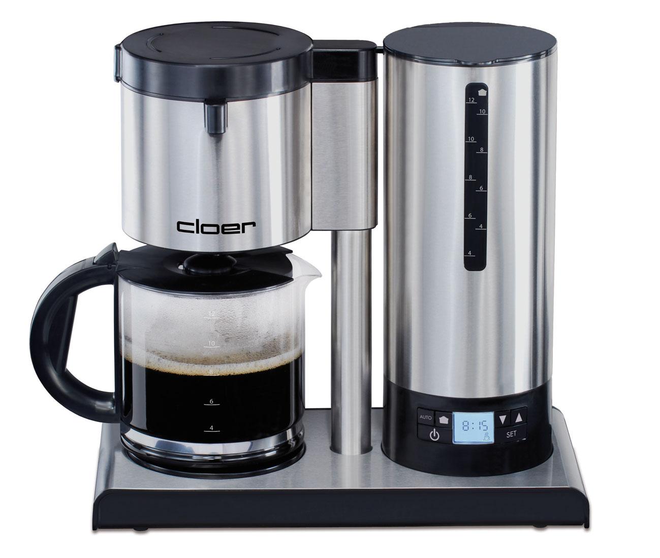 cloer kaffeemaschine 5609 mit temperaturstabilisierung f r filterkaffee. Black Bedroom Furniture Sets. Home Design Ideas