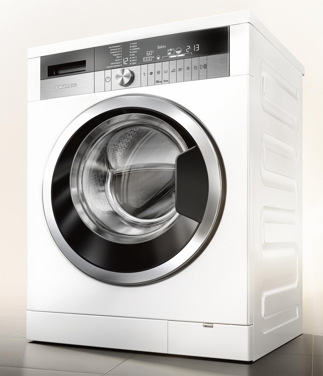 grundig waschmaschine gwn 58474 c mit multisense und prodose technologie. Black Bedroom Furniture Sets. Home Design Ideas
