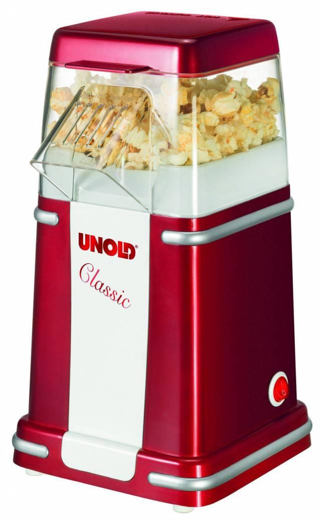 Unold Popcornmaker Classic – Popcornzubereitung ohne Öl (Bild: Unold)