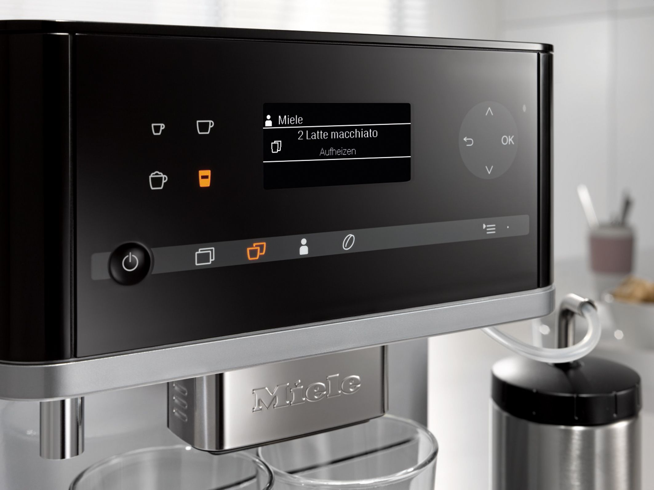 miele kaffeevollautomat cm6300 display miele kaffeevollautomat cm6100 und miele. Black Bedroom Furniture Sets. Home Design Ideas