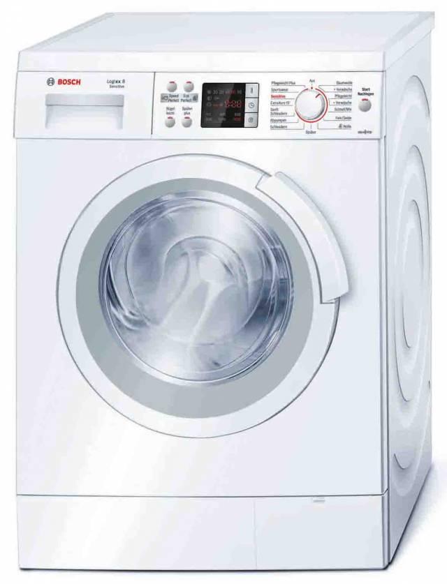 bosch waschmaschine logixx 8 sensitive sch tzt die haut schont die faser. Black Bedroom Furniture Sets. Home Design Ideas