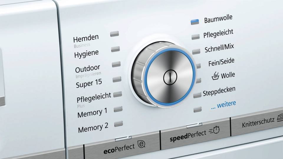 Hausgeräte+ Siemens Programmwahl (Bild: Hausgrät+ - Siemens)