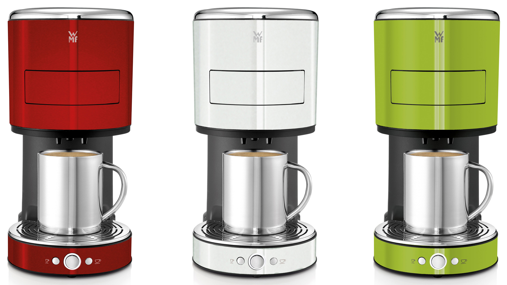 wmf kaffeemaschine lono color kaffeepadmaschine in drei neuen farben. Black Bedroom Furniture Sets. Home Design Ideas
