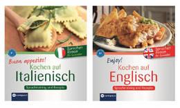 """Kochbuchreihe """"Sprachen lernen für Genießer"""" (Bild: Compact-Verlag)"""