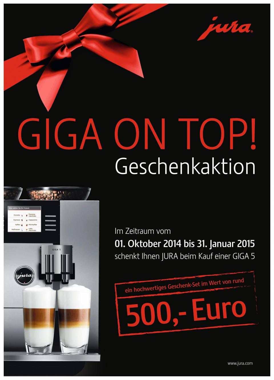 """Jura Geschenkaktion """"Giga on top!"""""""