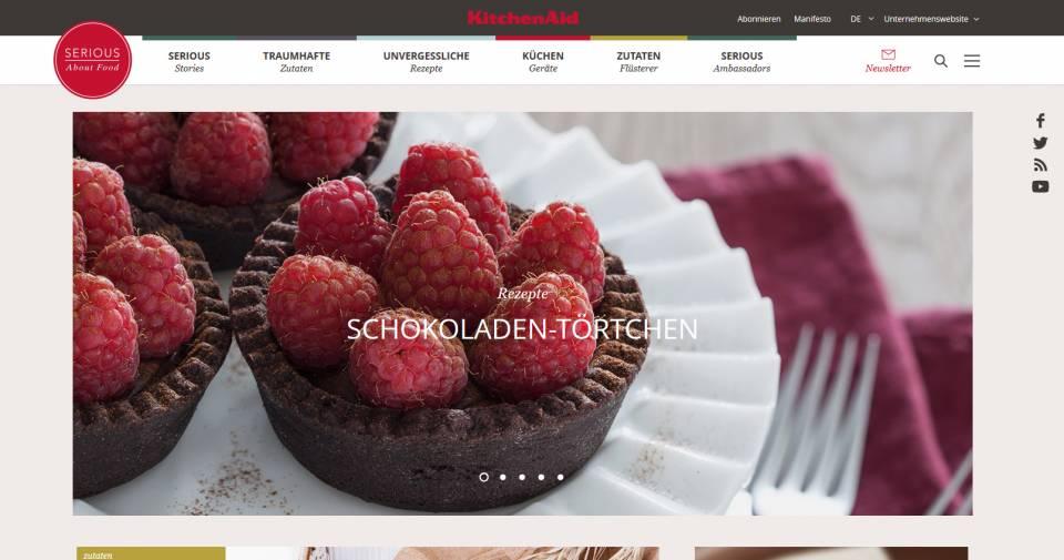 KitchenAid Food-Blog Homepage