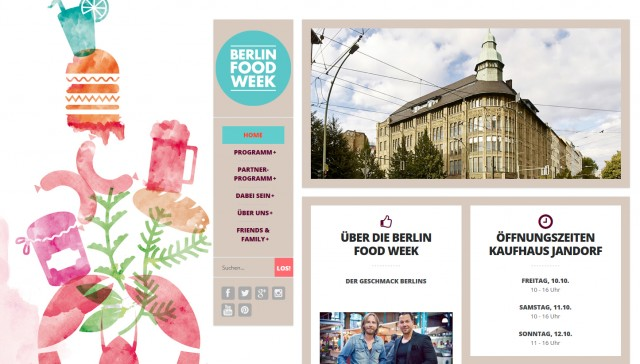 Screenshot Berlin Food Week