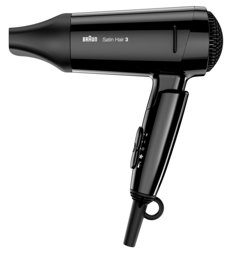 Kraftvolles Reisegerät: Braun Haartrockner Satin Hair 3 Style&Go