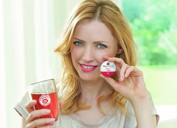 Die Teekanne-Kapseln (in 24 Geschmacksrichtungen) sind nach dem Gebrauch über den Grünen Punkt receycelbar.