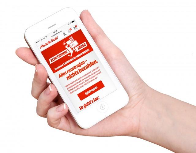 Media Markt Gewinnspiel nutzt die App.