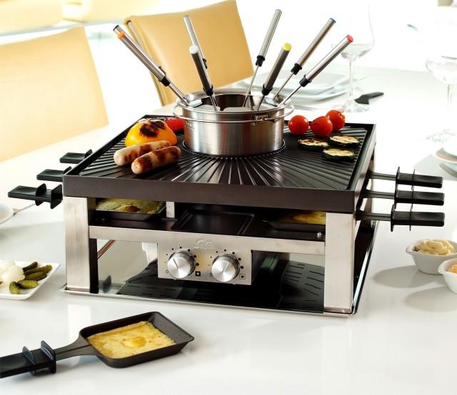 Der Solis Combi-Grill 3 in 1 ist ideal als Tischgerät
