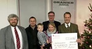 Spendenscheck von Oranier