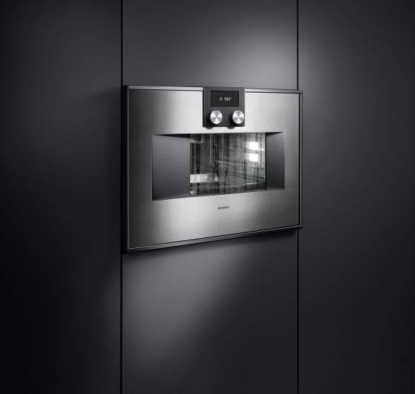 Eine Geschirrspülmaschine? Nein, vielmehr das neue, vollautomatische Reinigungssystem für alle Backöfen der Serie 400 von Gaggenau.