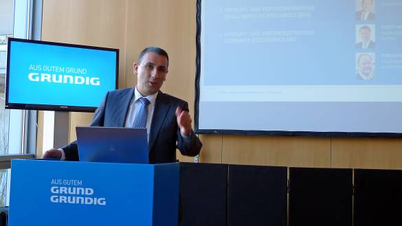 "Murat Sahin, CEO Grundig: ""Distributions-Entwicklung, Innovationen und Sortimentsvielfalt prägen Grundig."""