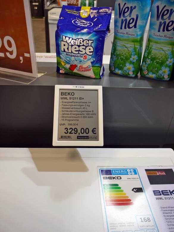 Die elektronische Preisauszeichnung über die angeschlossene Warenwirtschaft hält Einzug.