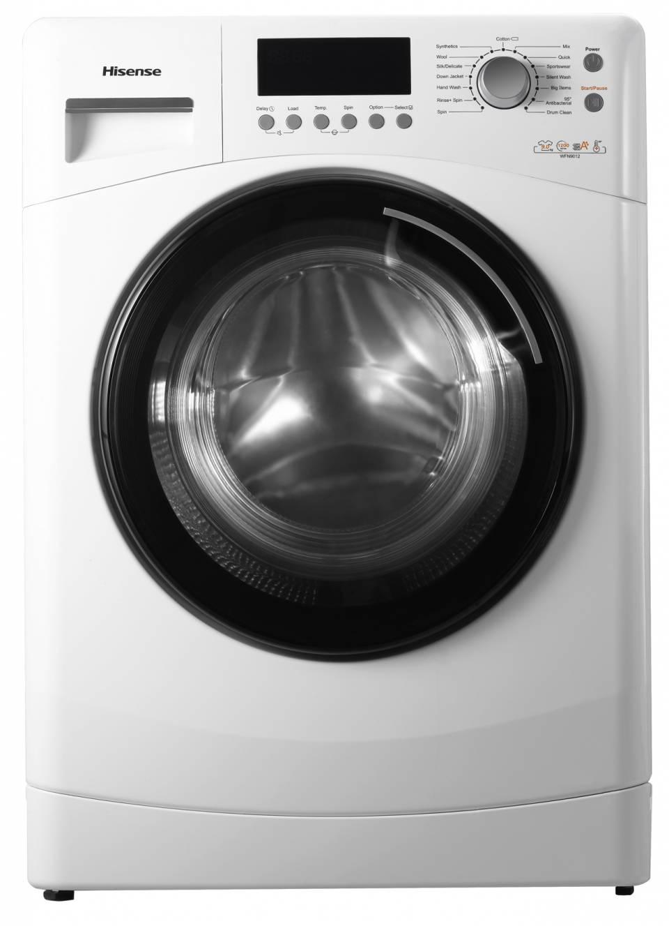 Hisense Waschmaschine WFN 9012 WE mit Anti-Schaum Sensor