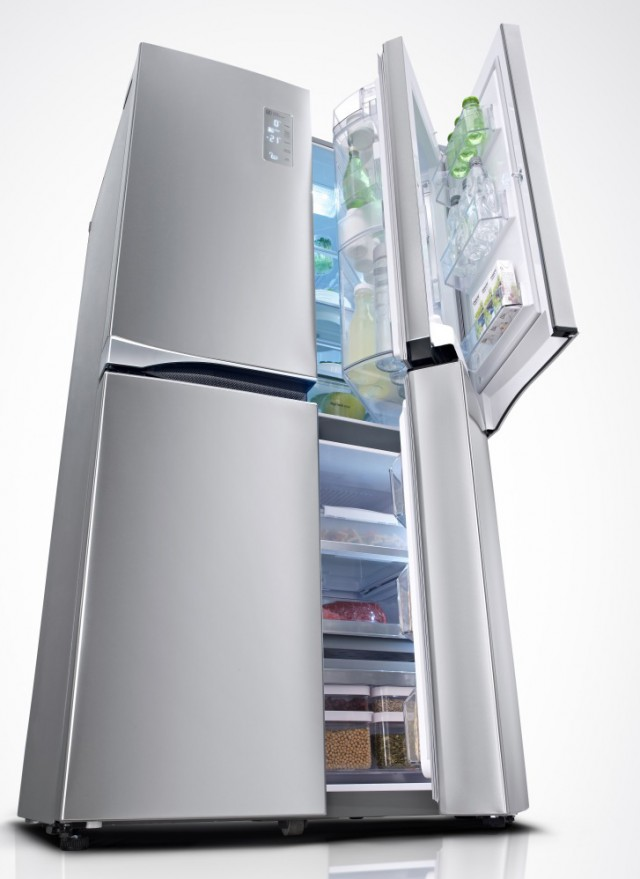 LG Kühlschrank Multi Door GMM 916 NSHZ mit Kühlschrank im Kühlschrank