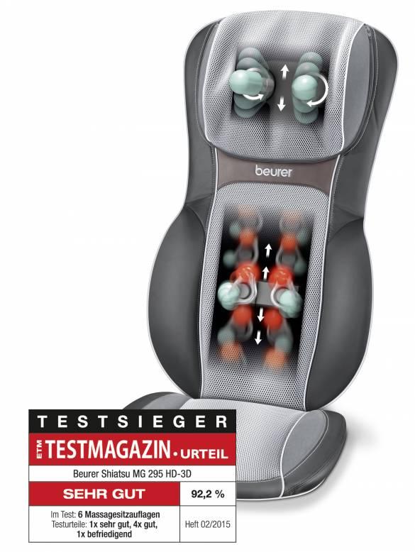 Testsieger: Massage-Sitzauflage MG 295 von Beurer.