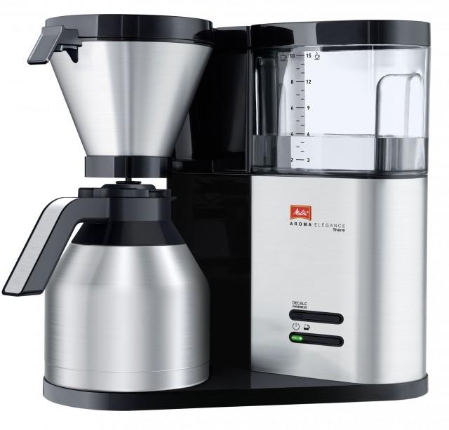 Melitta Kaffeemaschine AromaElegance Therm mit Edelstahl-Thermkanne