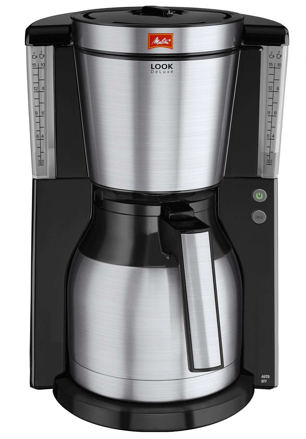 melitta kaffeemaschine look therm deluxe edelstahlblenden aromaselector. Black Bedroom Furniture Sets. Home Design Ideas