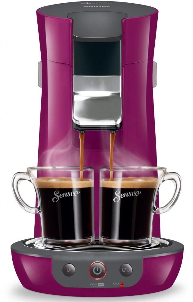 Philips Kaffeemaschine Senseo Viva Café in vier trendigen Farben.