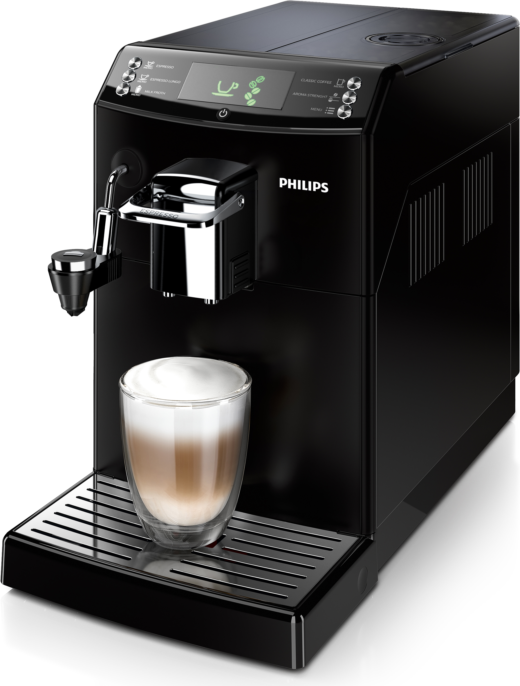 philips kaffeemaschine serie 4000 hd8844 01 mit cappuccinatore. Black Bedroom Furniture Sets. Home Design Ideas
