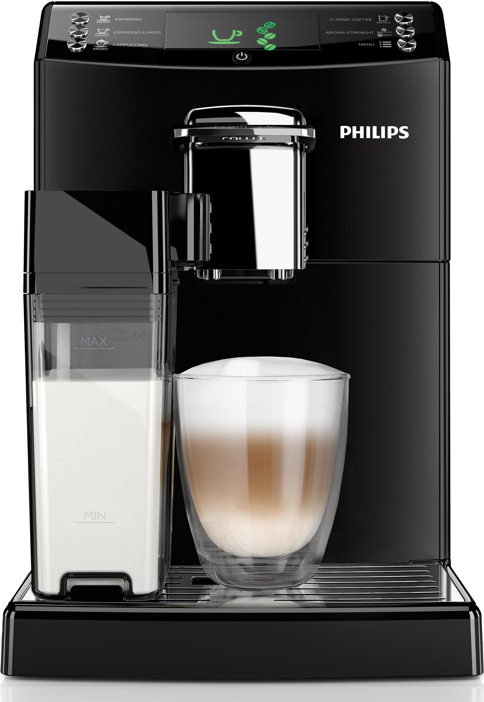 philips kaffeemaschine serie 4000 hd8847 01 mit karaffe zum aufsch umen von milch. Black Bedroom Furniture Sets. Home Design Ideas