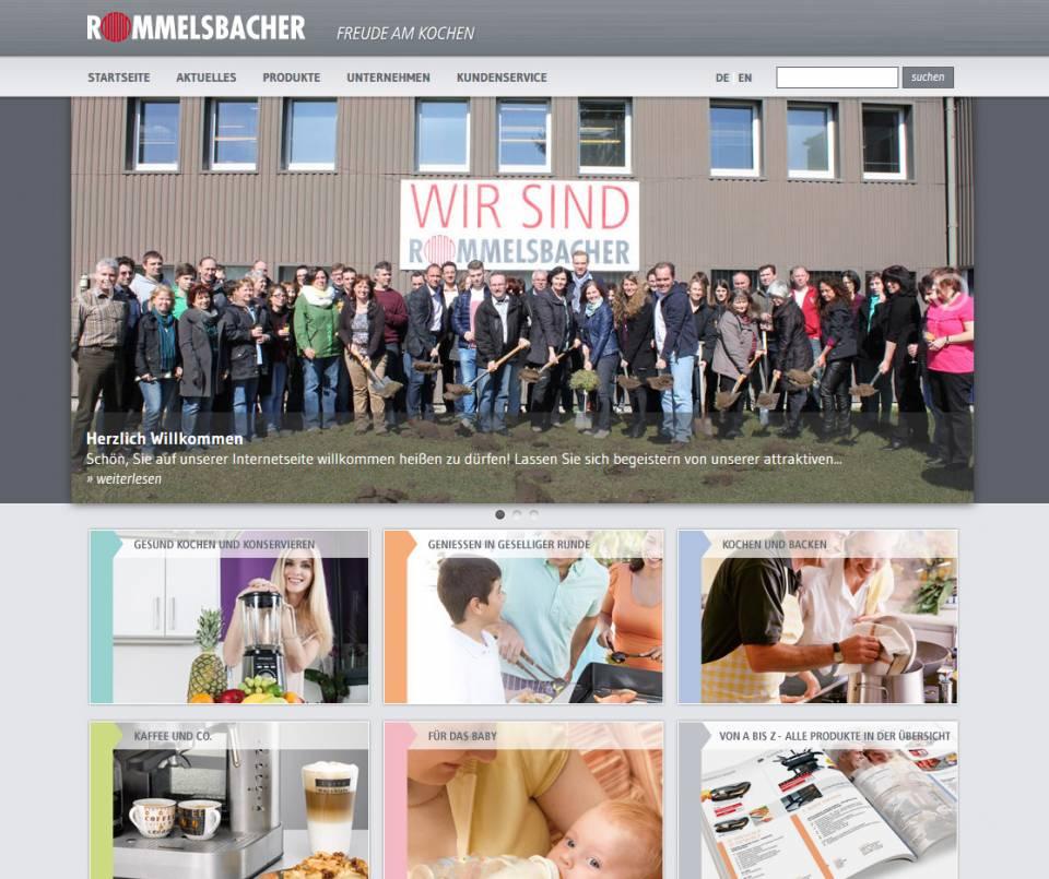 Screenshot Rommelsbacher neue Webseite