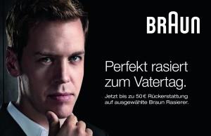 Perfekt rasiert mit Braun-Rasierern lassen sich dem Vatertag ganz neue Facetten abgewinnen. Beispielsweise mit einem Einkaufsbonus von 50 Euro.