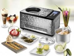 Die Unold Eismaschine Limited Edition im eleganten Edelstahl-Mosaik