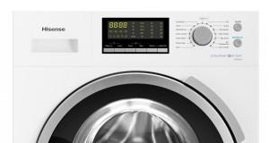 """Hisense Waschmaschine WFH 8014 WE mit """"Schneeflocken""""-Schontrommel."""