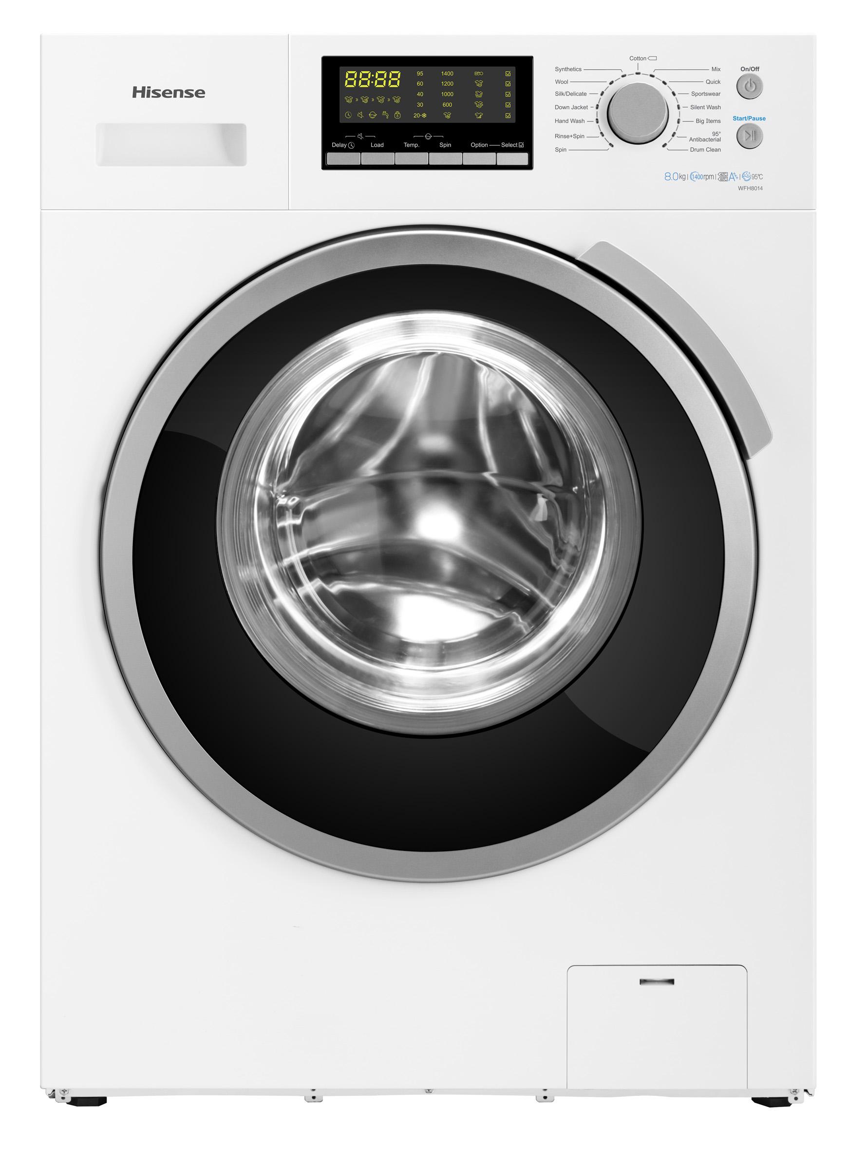 hisense waschmaschine wfh 8014 we mit schneeflocken trommel. Black Bedroom Furniture Sets. Home Design Ideas