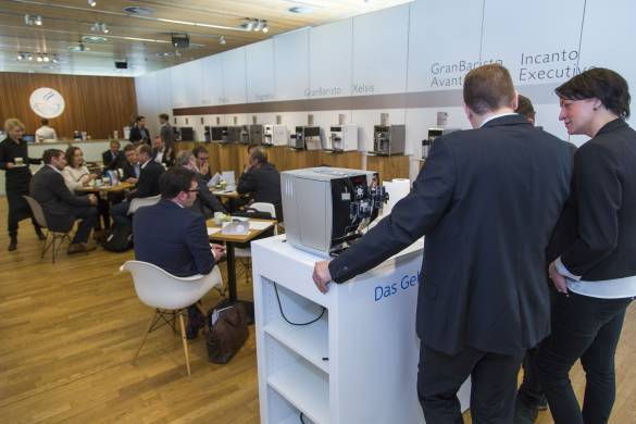Ob Düsseldorf oder Berlin: geziegt wurden ausschließlich Kaffee-Vollautomaten.