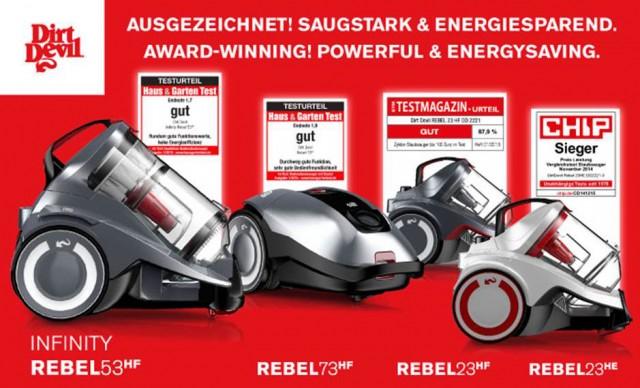 Mehrfach ausgezeichnet: Die Staubsauger von Dirt Devil punkten mit hoher Saugkraft bei geringem Energieverbrauch.