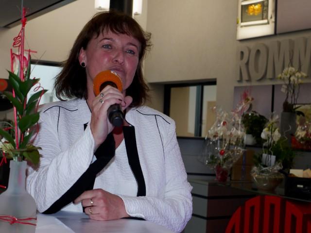 Sigrid Klenk: eine sichtlich stolze Rommelsbacher Chefin