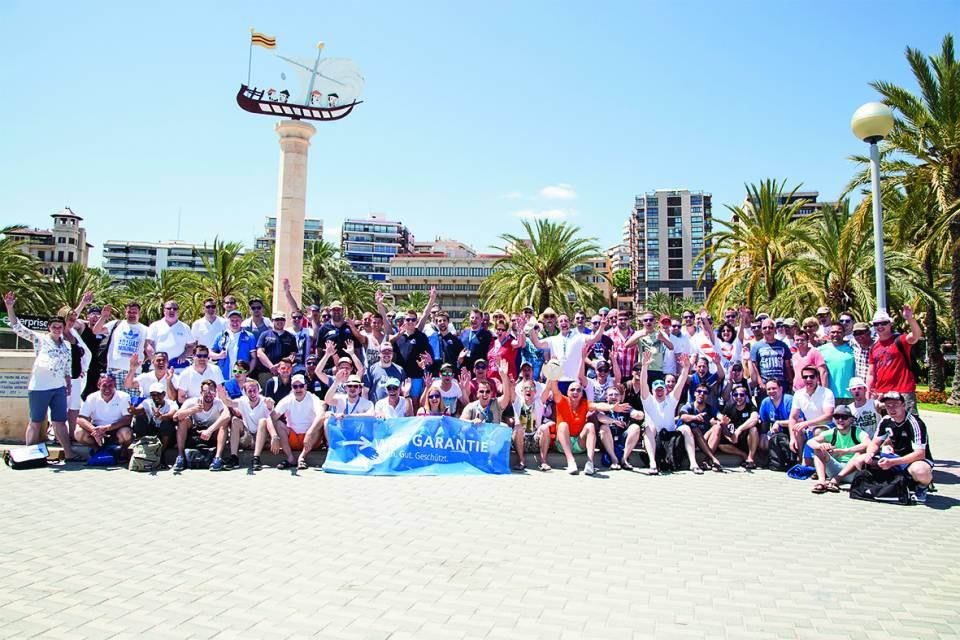 Ab in den Süden: Die Profitour der Wertgarantie führte in diesem Jahr in die Sonne Mallorcas.