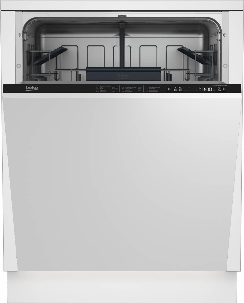 Beko Geschirrspüler DIT28320 mit Platz für große Geschirrteile.